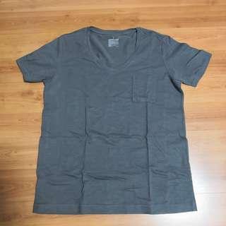 [Preloved] Muji Dark Grey Cotton Tshirt