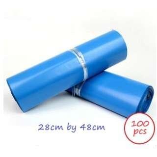 🚚 Blue Colour Plastic Poly Mailer (28cm x 42cm)