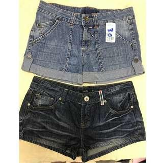 Brand new 2 pcs short jeans both RM55 only