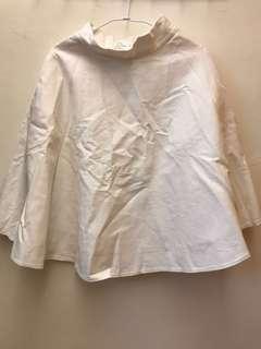 🚚 PAZZO 白色半身傘裙