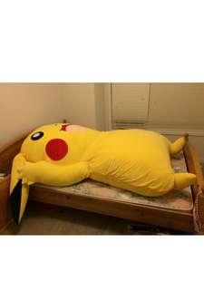 Queen Bed Frame & Giant Pikachu