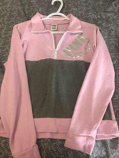 PINK quarter zip sweater (Small)