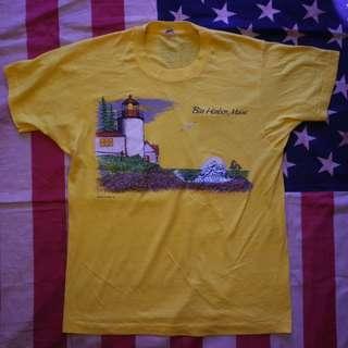 Vintage 70s SCREEN STARS Harbor Maine T-Shirt USA not hanes champion nike adidas vans converse jack purcell