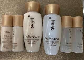 Sulwhasoo samples 雪花秀 試用裝