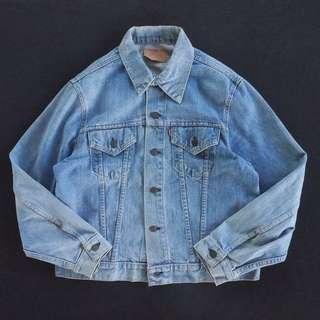 🚚 🇺🇸70s美國製Levis復古洗色牛仔外套 單寧夾克 古董老品 男女皆可Vintage 歐美帶回古著