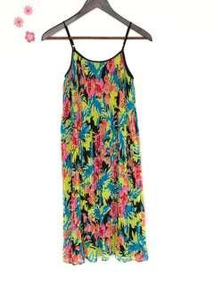 LOFT midi floral dress