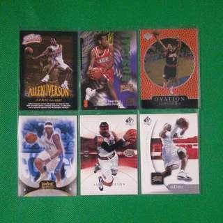 NBA Cards: Allen Iverson Lot (13 cards)