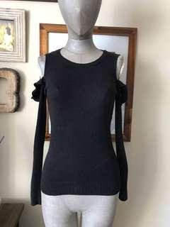 Ruby Moon cold shoulder sweater: size S