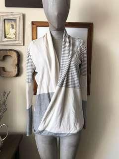 Woman's drape sweater: size S