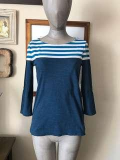 Tommy Hilfiger 3/4 length sleeve top: size XS