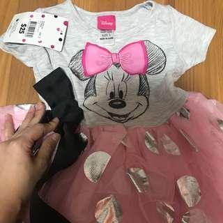 Minnie tutu dress pink polka dot