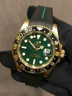 劳力士Rolex GMT Master 2 green dial 116718 with box and papers