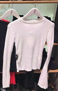 stradivarius knitted white
