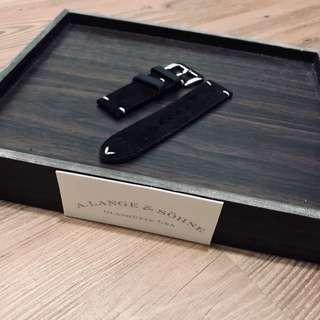 Black Suede Genuine Leather Strap