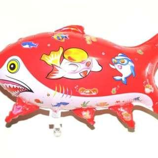 Balon Foil Ikan Hiu Merah Shark 0435