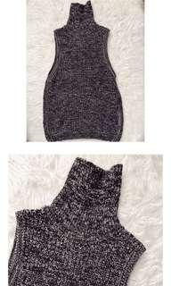 Thick knit turtleneck vest/sweater