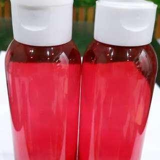botol pet 100 ml merah flip putih
