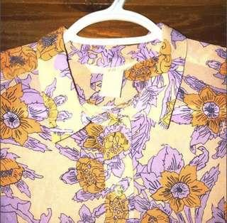 H&M FLORAL SLEEVELESS TOP FITS XS TO MEDIUM NEVER WORN GOOD AS NEW