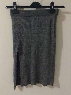 Grey Fitted Skirt from Mendocino