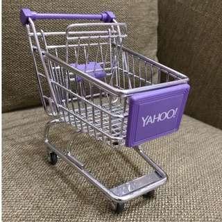 Yahoo! 迷你收納購物推車(單層) Yahoo! 迷你收納購物推車 YAHOO 奇摩小推車 置物架 收納架手機座