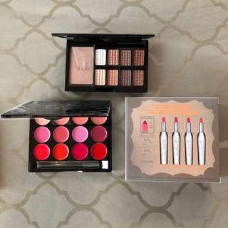 New makeup palettes ISH lip and eyeshadow + highlight. Benefit lipsticks NEW