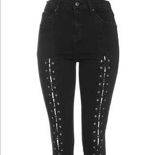 Topshop Lace Up Jamie Jeans