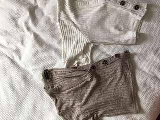 Glassons white and beige crop