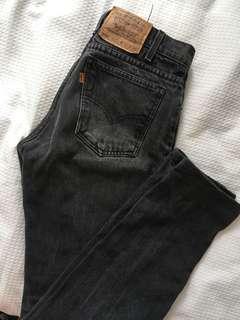 Levi's 550 black denim jeans