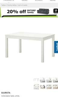 🚚 (Pine wood color)Ikea extendable Dining Table
