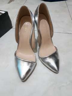 Zalora silver heels uk 38