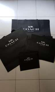 AUTHENTIC Coach paper bags and boxes