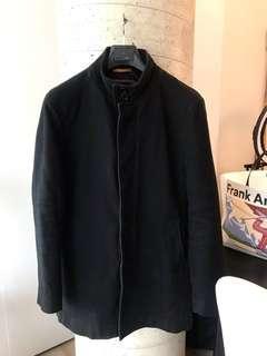 ZARA Mens Black Pea Coat XXL $45