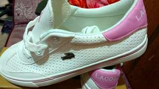 Lacoste shoes size40 white pink