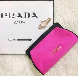 Genuine Prada Candy Hot Pink Cosmetic Clutch