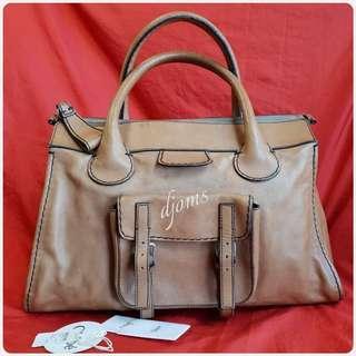 ✔Chloe Edith Natural Brown Tote Bag