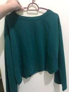 H&M oversized crop sweatshirt / sweater LIKE NEW