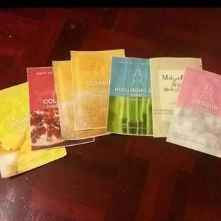 Set Of 6 Korean Facial Masks