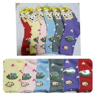 🚚 (6入)可愛動物止滑兒童襪 小朋友 襪子