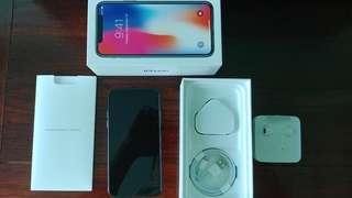 iPhone X 64G 黑色, 配件全齊未用過