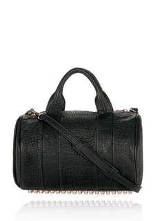 ALEXANDER WANG ROCCO IN BLACK PEBBLE LAMB WITH ROSEGOLD $1599rrp