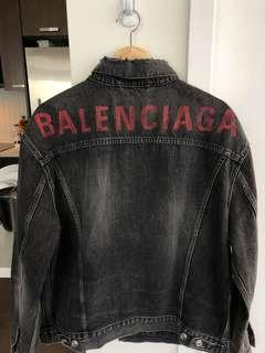 Brand New Balenciaga Denim Jacket