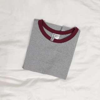 h&m divided striped ringer tee #springcleanandcarousell50