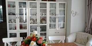 White Display Cabinets/Bookcase