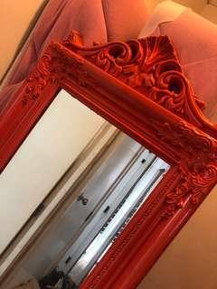 Orange full length mirror