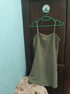 [blooming chic] Mini dress abu-abu stripes
