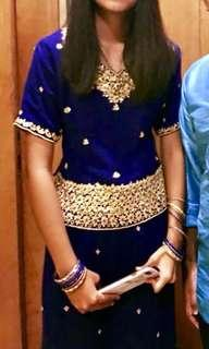 Royal Blue Lahenga Suit