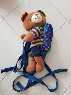 Baby backpack safety leash