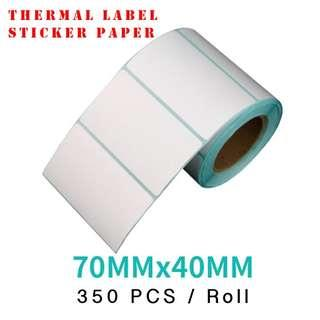 🚚 (Pack of 3) Thermal sticker labels 70*40cm 350pcs Per roll