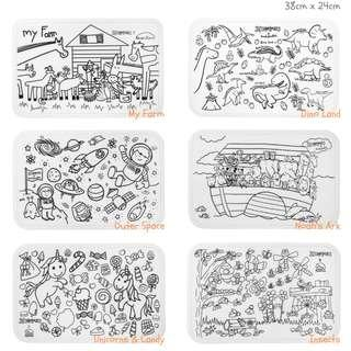 #ohmymats Reuseable Colouring and Dining Place Mat, Small