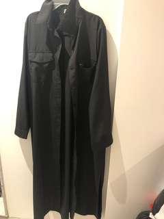 Button up black dress size large